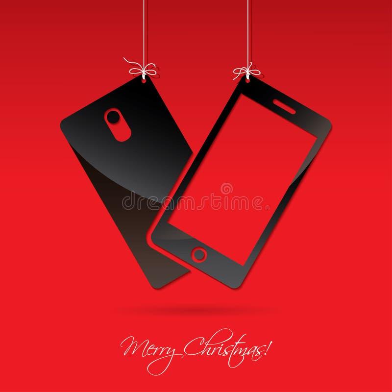 Téléphone intelligent pour Noël illustration libre de droits