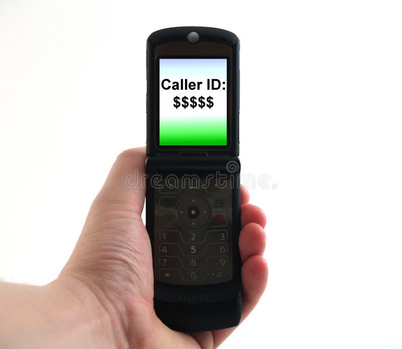 Téléphone mobile à disposition images stock