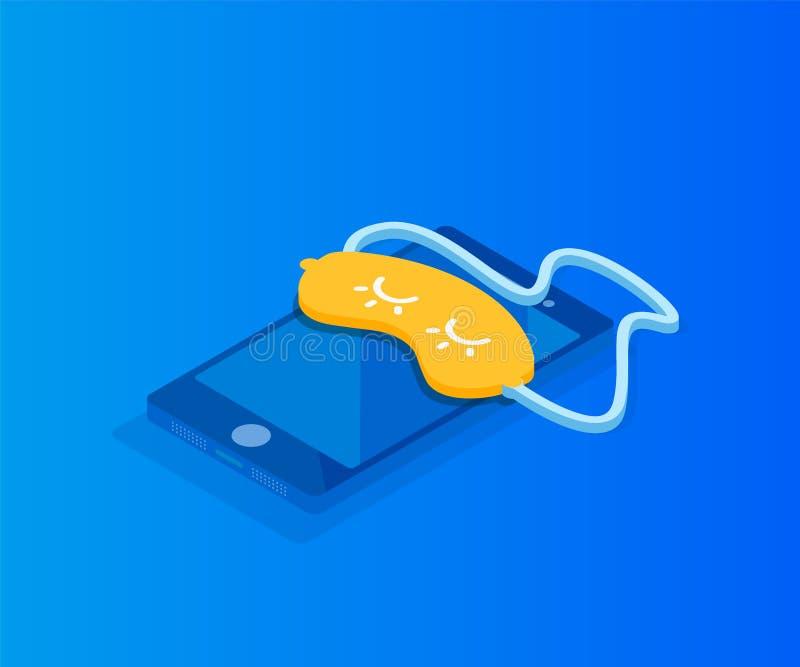 Téléphone moderne de sommeil d'illustration illustration stock