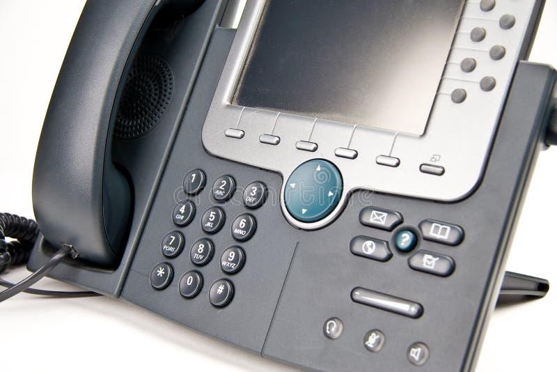 Téléphone multiligne de bureau images libres de droits