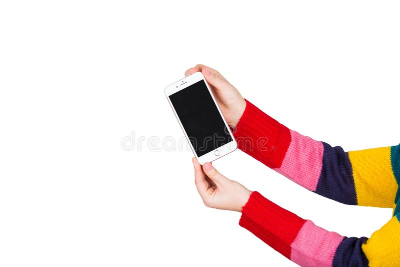 Téléphone neuf image stock