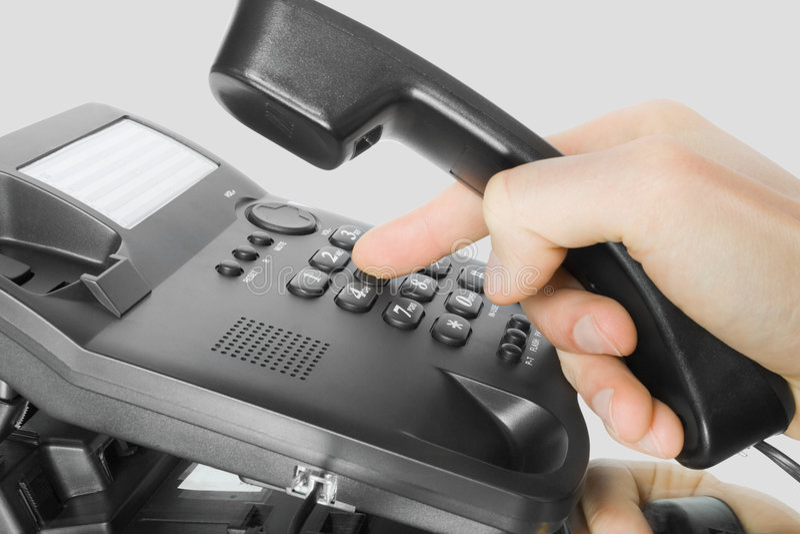 téléphone noir photographie stock