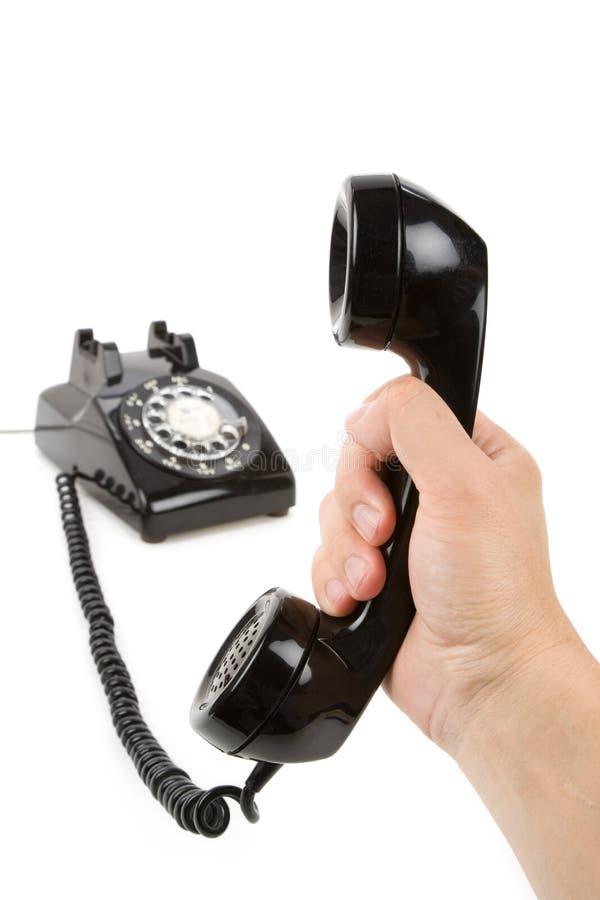 téléphone noir de récepteur photographie stock libre de droits
