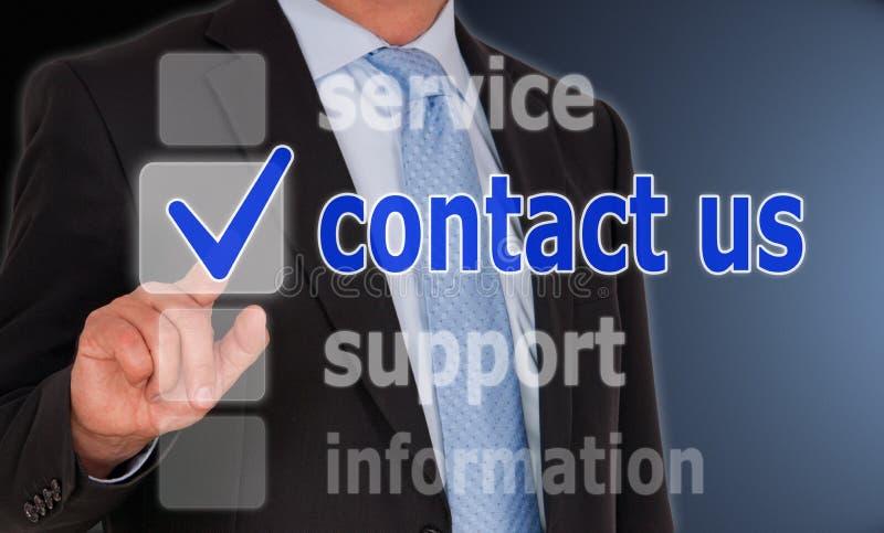 Téléphone ou courrier images stock