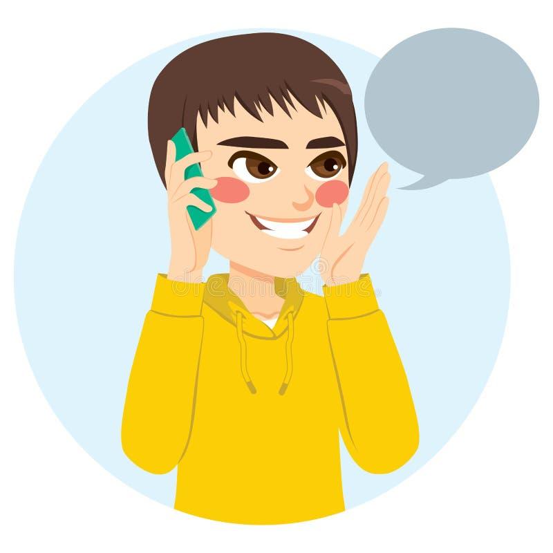 Téléphone parlant de garçon illustration de vecteur