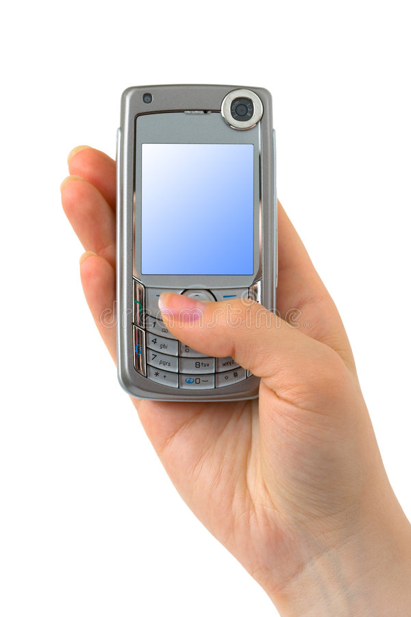 Téléphone portable à disposition image libre de droits