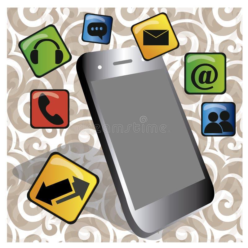 Téléphone portable illustration de vecteur