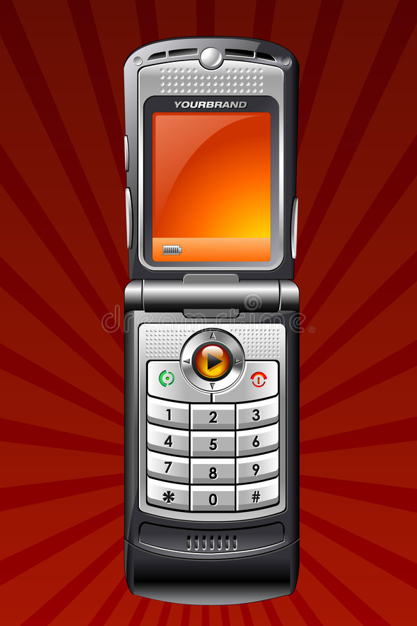 Téléphone portable illustration stock