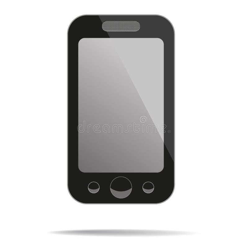 Téléphone portable avec l'écran vide. illustration de vecteur