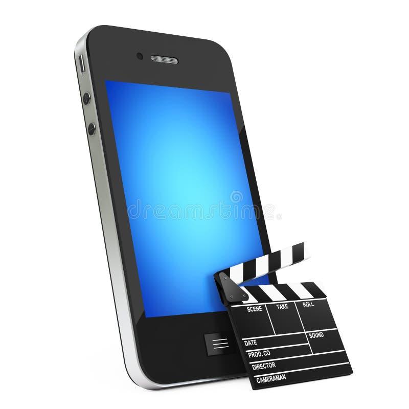 Téléphone portable avec le bardeau rendu 3d illustration de vecteur