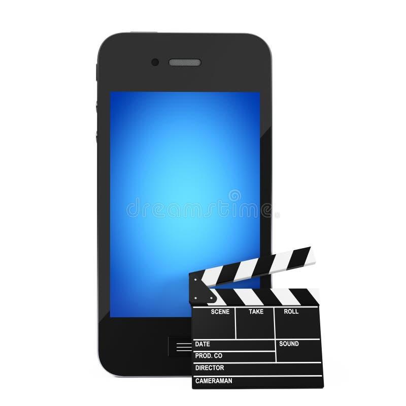 Téléphone portable avec le bardeau rendu 3d illustration libre de droits
