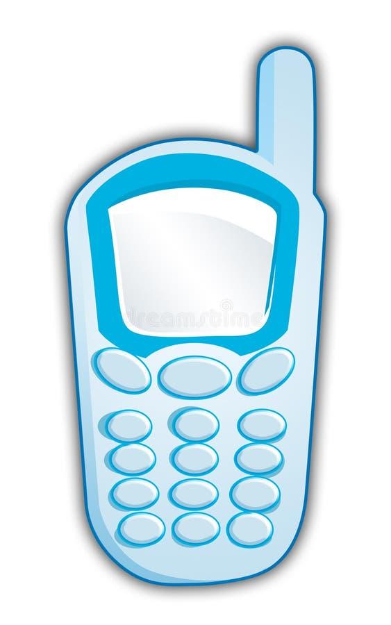 Téléphone portable bleu illustration libre de droits