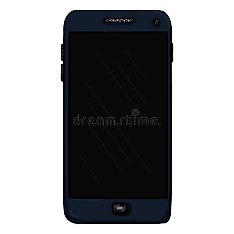 Téléphone portable bleu-foncé de vecteur cellphone Smartphone illustration libre de droits