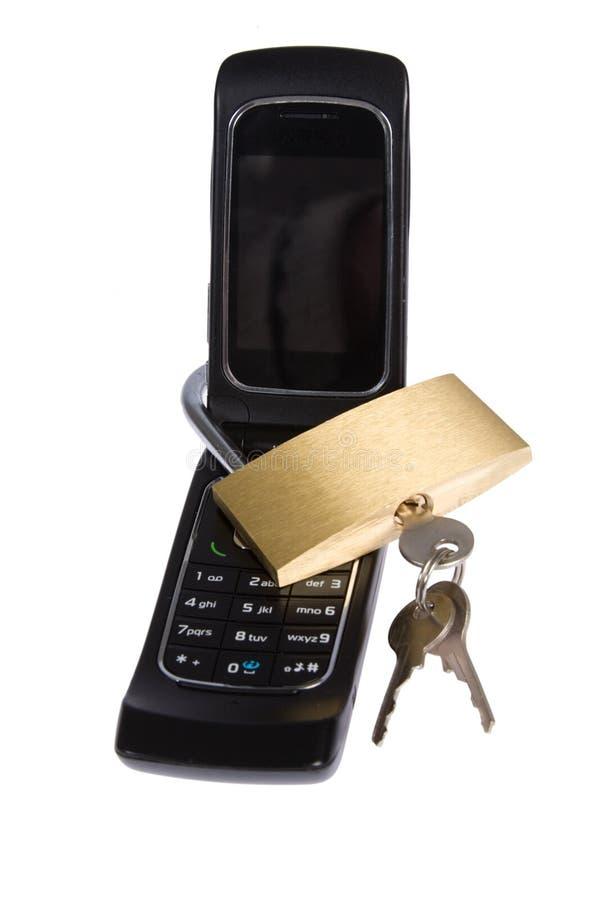 téléphone portable bloqué photos stock
