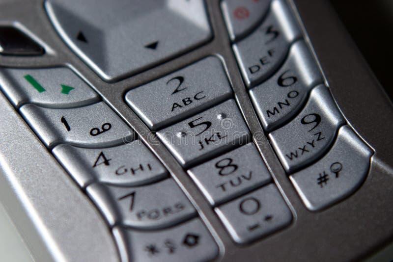 Téléphone portable, clavier numérique photos libres de droits