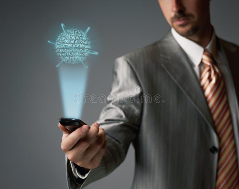 Téléphone portable d'écran tactile photo libre de droits