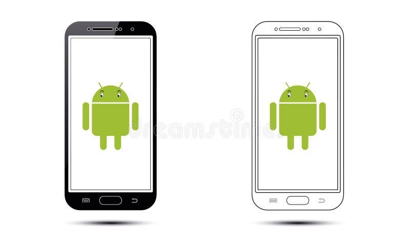 Téléphone portable d'Android illustration de vecteur