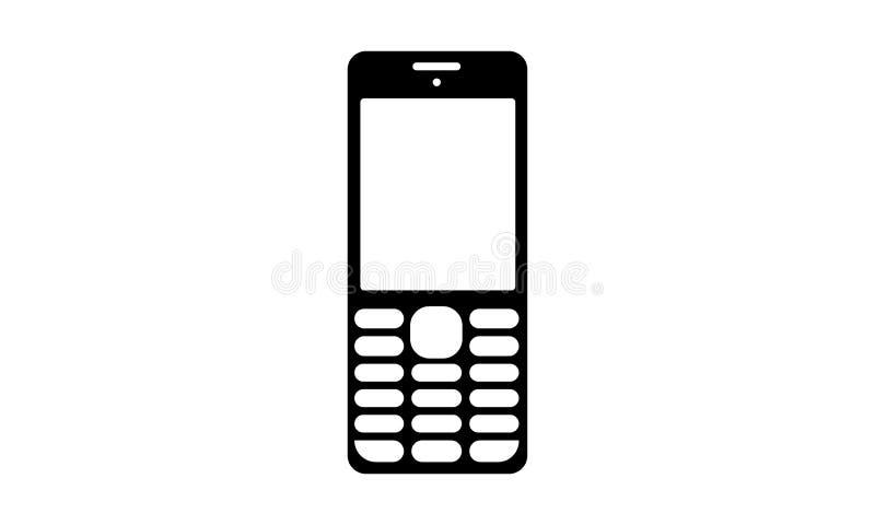 Téléphone portable d'Android - icône de téléphone portable - vieux téléphone portable de clavier numérique illustration stock