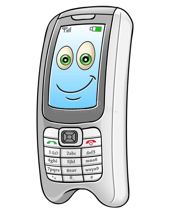 Téléphone portable de bande dessinée illustration de vecteur
