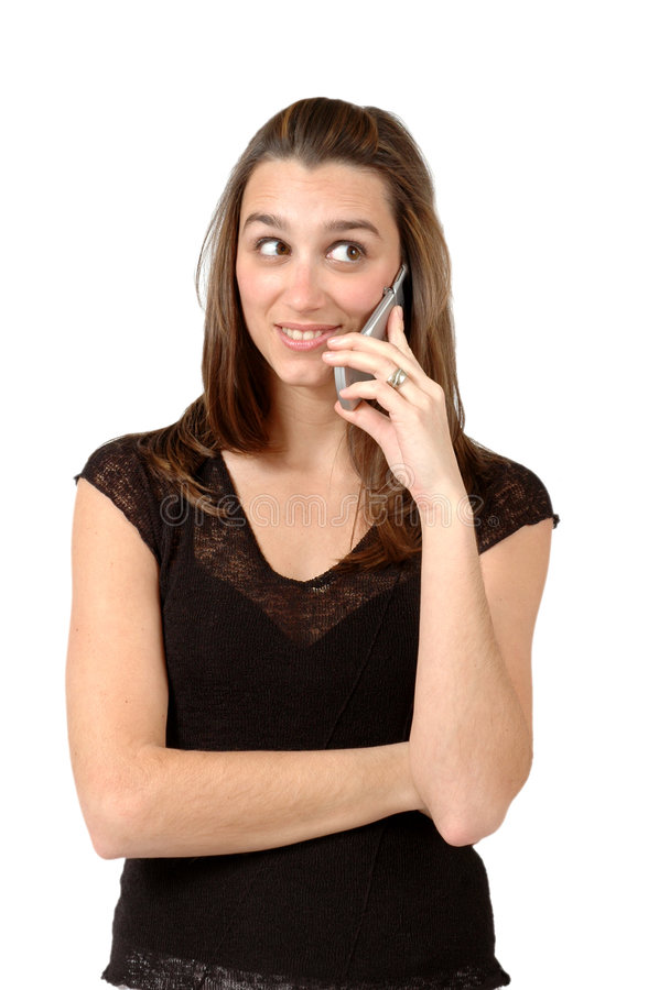 Téléphone portable de bavardage photo stock
