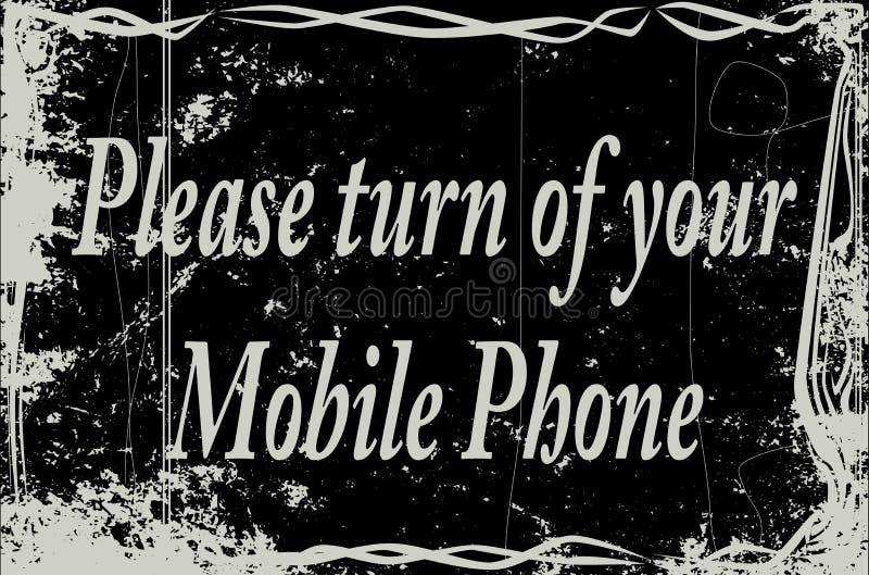 Téléphone portable de cadre de film silencieux illustration de vecteur