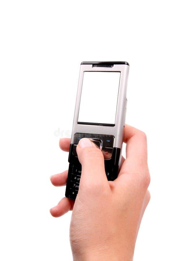 téléphone portable de main images libres de droits