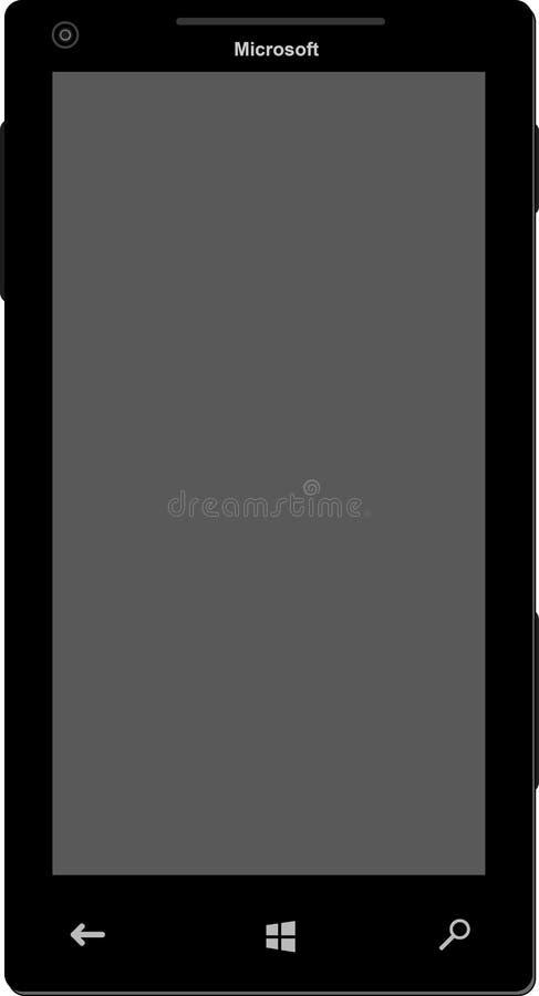 Téléphone portable de Microsoft illustration stock