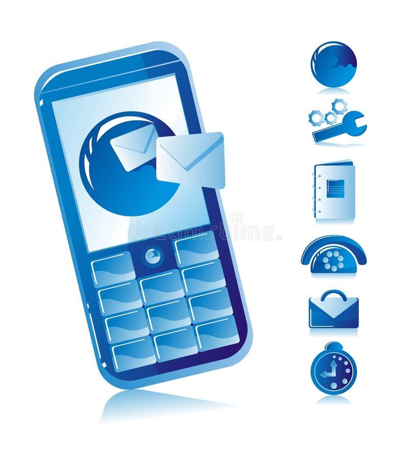 Téléphone portable de Sms illustration de vecteur