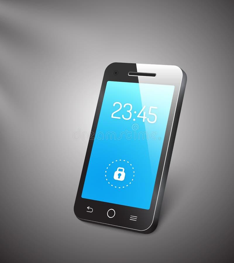 Téléphone portable du vecteur 3d illustration libre de droits