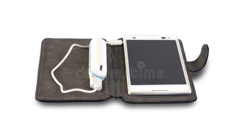 Téléphone portable et banque de puissance photo libre de droits
