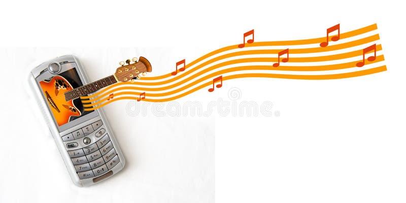 Téléphone portable MP3 image stock