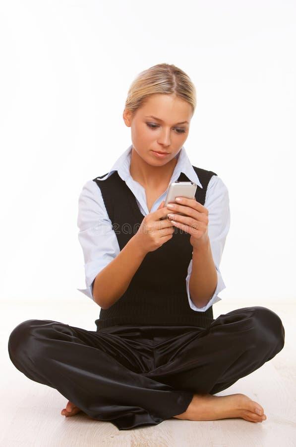 Téléphone portable parlant image libre de droits