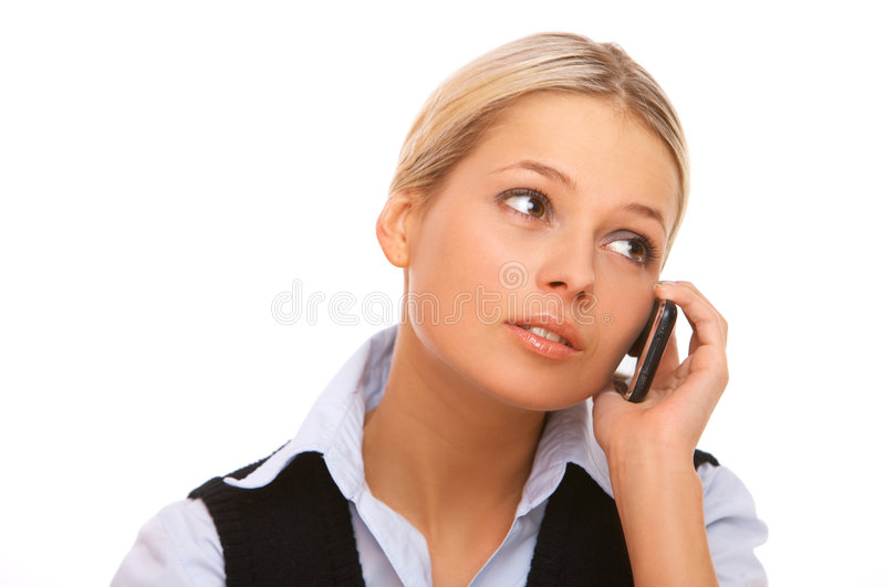 Téléphone portable parlant photos stock