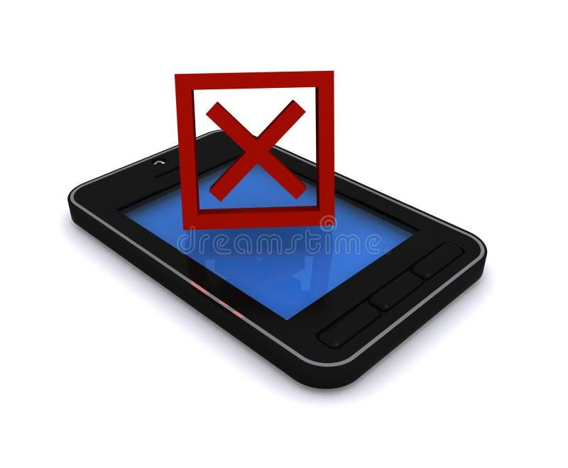 Téléphone portable sans le service photographie stock