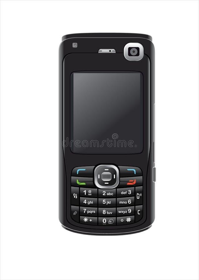 Téléphone portable sur le blanc images libres de droits