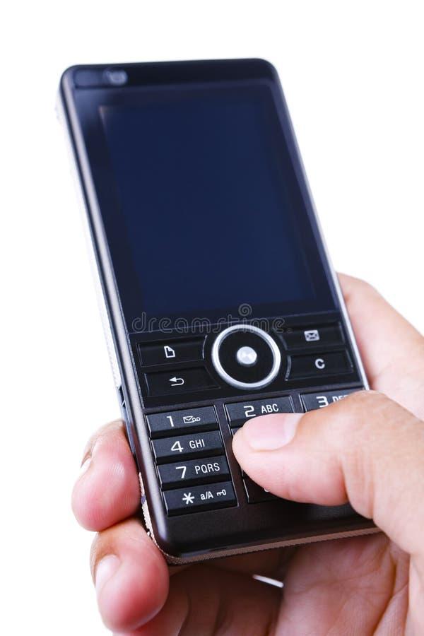 téléphone portable utilisant images libres de droits