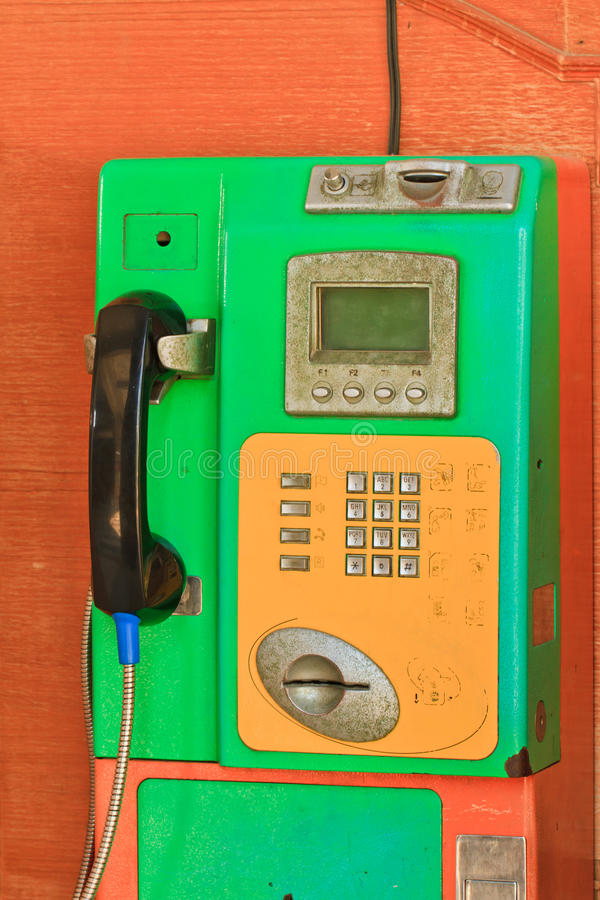 Téléphone Public Photographie stock
