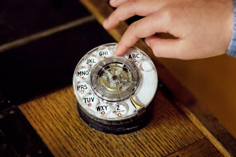 Téléphone rotatoire photographie stock