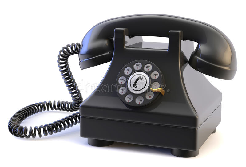 Téléphone rotatoire images libres de droits