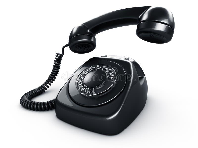 Téléphone rotatoire noir illustration stock