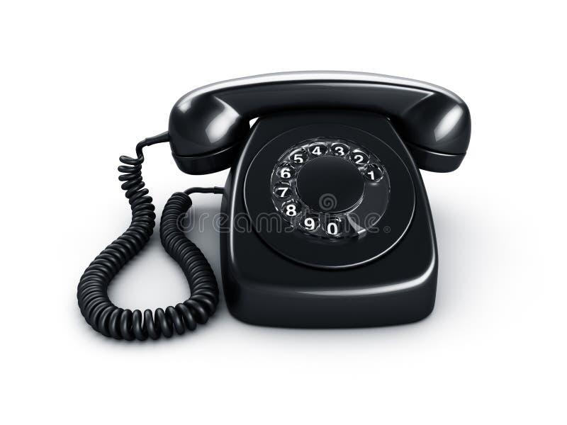Téléphone rotatoire noir illustration libre de droits