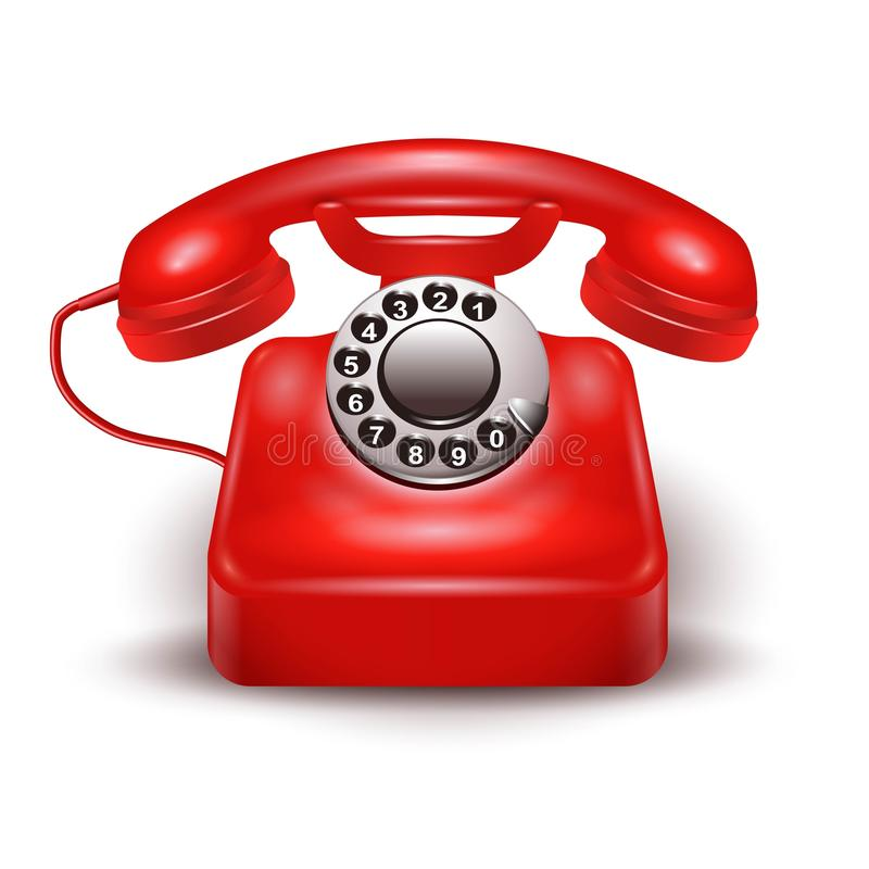 Téléphone rouge réaliste illustration de vecteur