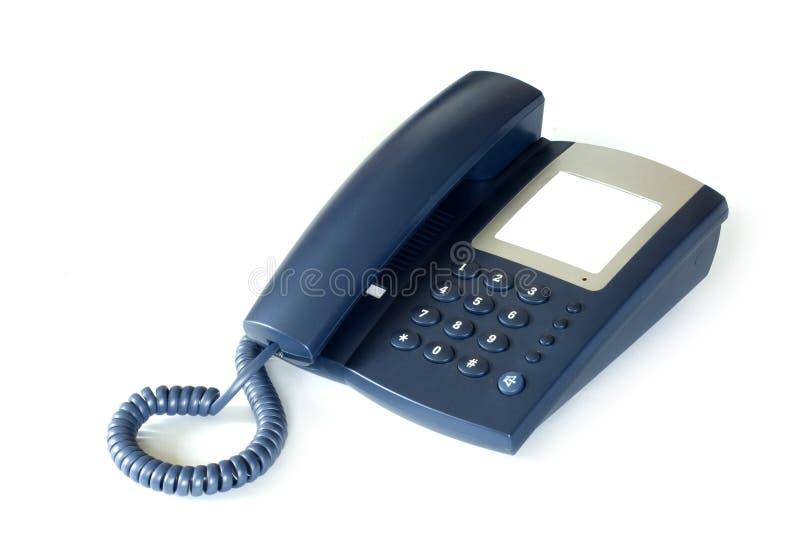 Téléphone sur le blanc photo stock