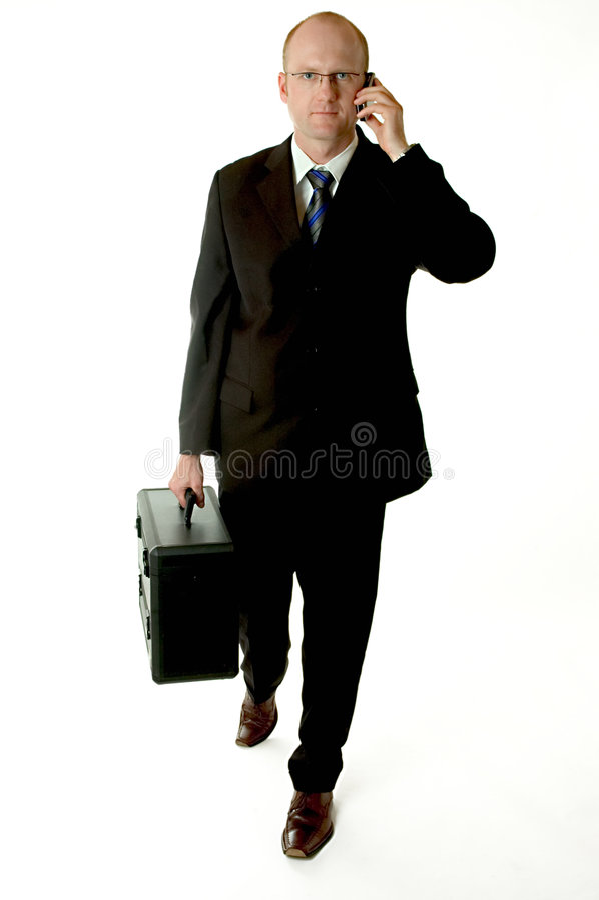 Téléphoner d'homme d'affaires photo stock