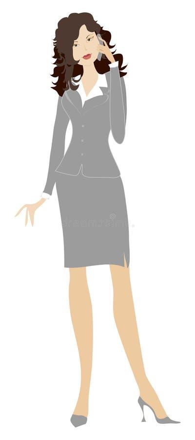 Téléphoner de dame d'affaires illustration libre de droits