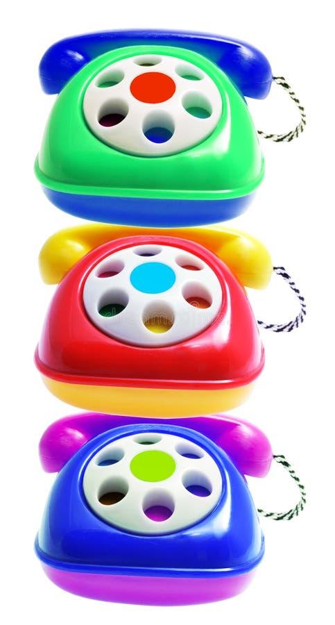 Téléphones de jouet photographie stock libre de droits