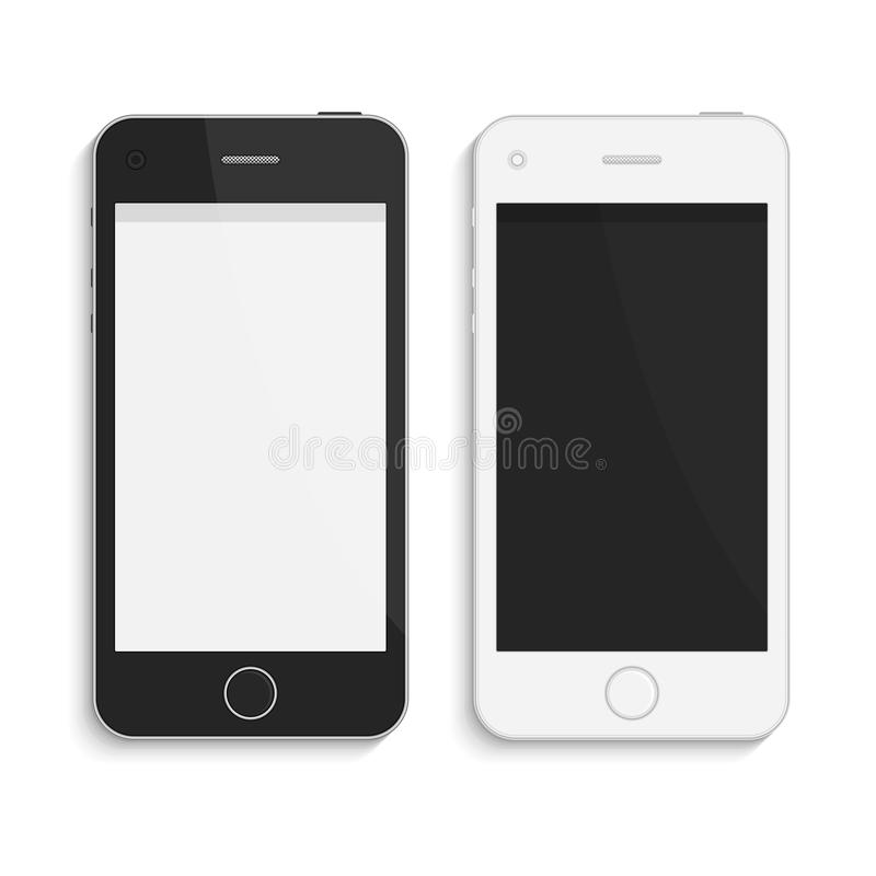Téléphones intelligents de vecteur réaliste illustration de vecteur