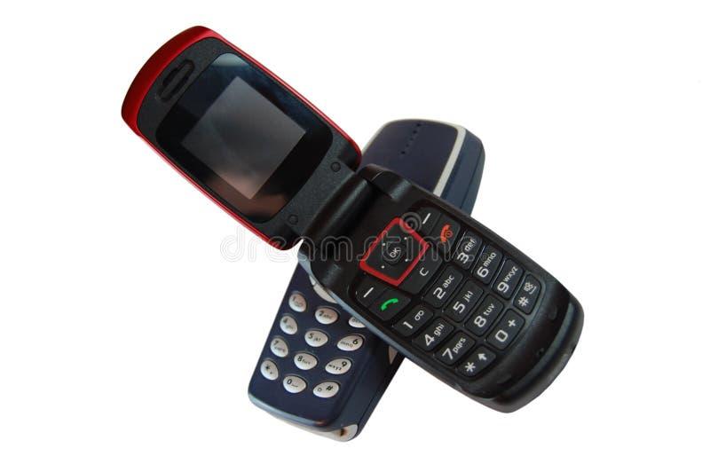 téléphones ouverts images stock