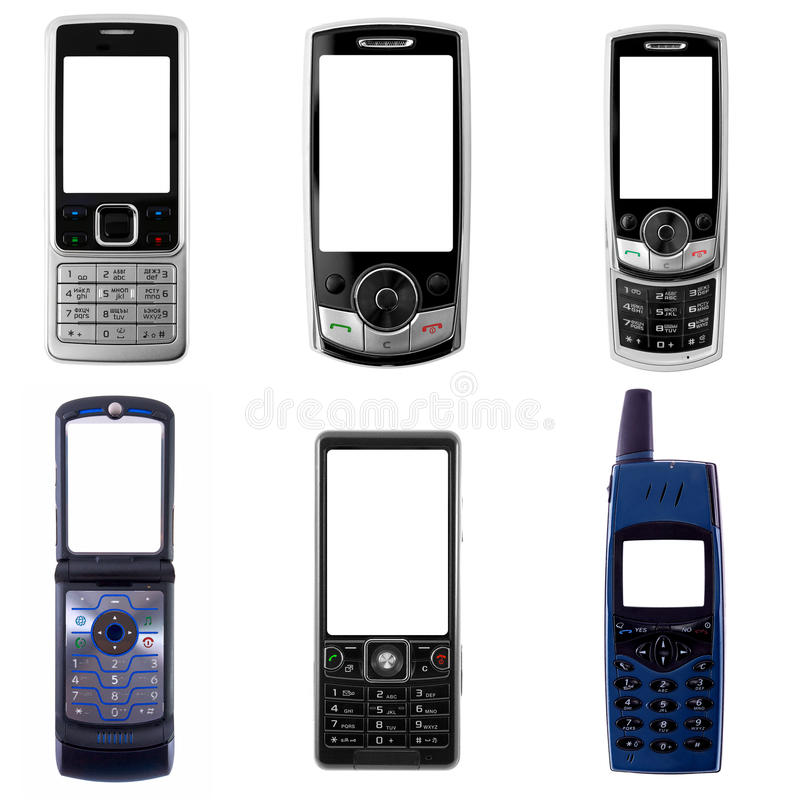 Téléphones portables images libres de droits