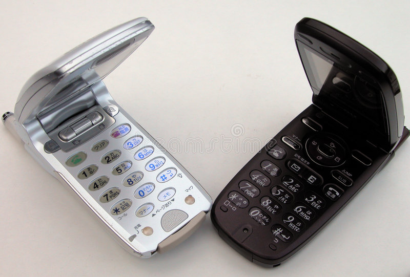 Téléphones portables images stock